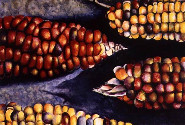 Kukurutz II,150x100cm, oil on canvas, 1999