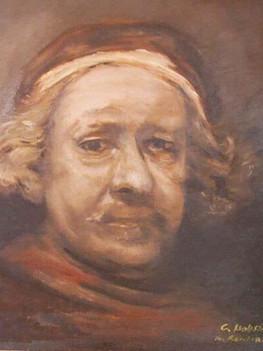 Selbstbildnis d'apres Rembrandt