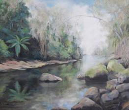 Walking along Berowra Creek