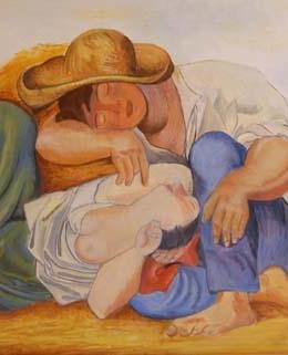 Sleeping Peasants d'apres Picasso