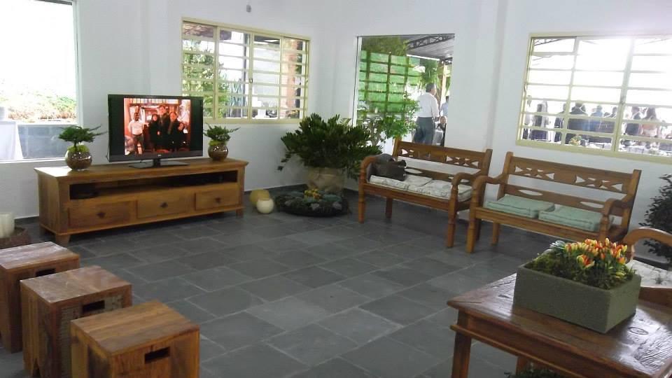 Decoração interna no Salão principal