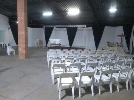 Altar montado para evento