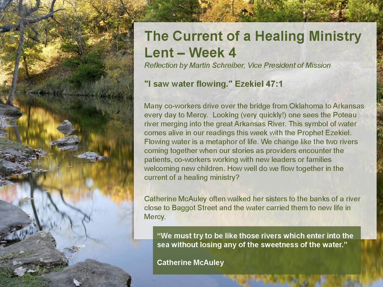 The Current of a Healing Ministry