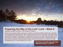 Preparing the Way of the Lord _Lent Week 5