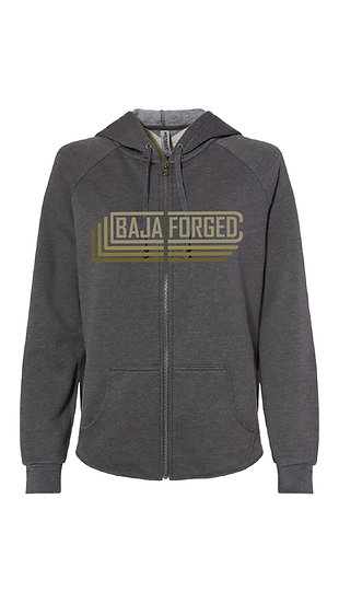 Baja Forged Shadow Grey zip up sweatshirt