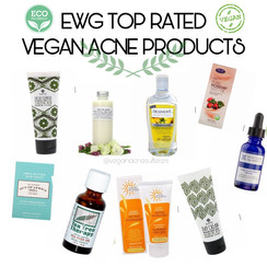 EWG Top Rated Vegan Acne Products (safe, non-toxic)