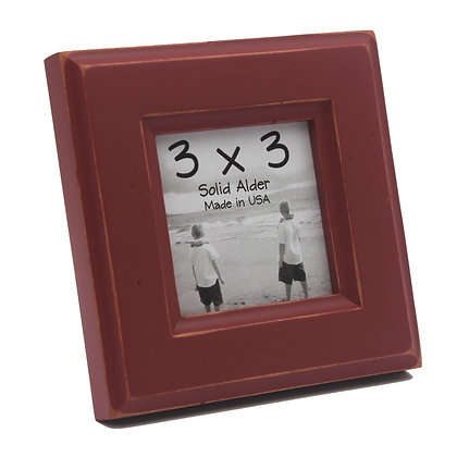 3x3 Moab Picture Frame - Barn Red