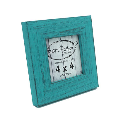 4x4 Country Colors Frame - French Teal