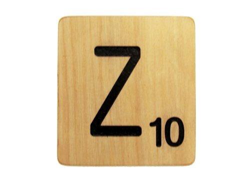 9x9 Scrabble Tile Z