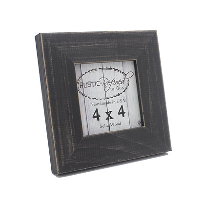 4x4 Country Colors Frame - Charcoal Black