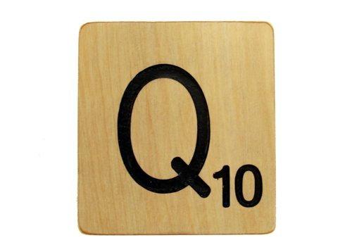 9x9 Scrabble Tile Q