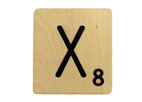 9x9 Scrabble Tile X