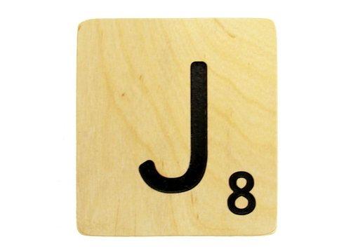 9x9 Scrabble Tile J