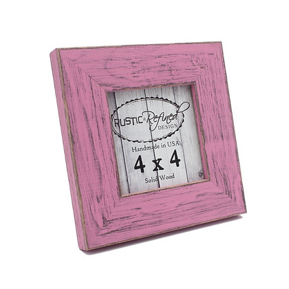 4x4 Country Colors Frame - Petticoat Pink