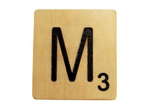 9x9 Scrabble Tile M