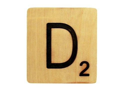 5x5 Scrabble Tile D