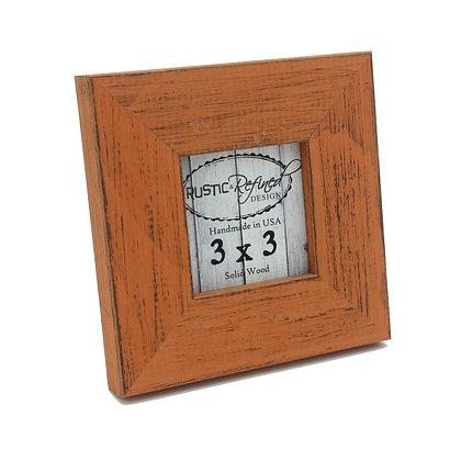 3x3 Country Colors Frame - Bourbon Orange