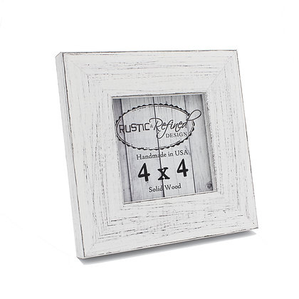 4x4 Country Colors Frame - Marshmallow White