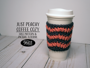 Just Peachy Coffee Cozy