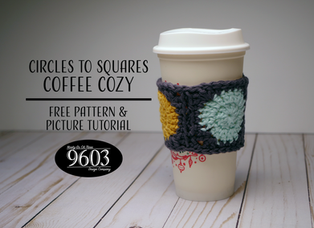 Circles to Squares Coffee Cozy