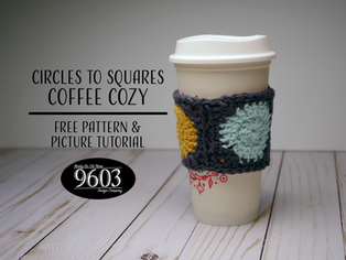 Circles to Squares Coffee Cozy