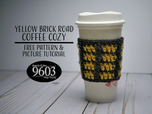 Yellow Brick Road Coffee Cozy