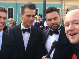 Eurovoxx Live at the red carpet with Christer Bjorkman, Oleksandr, Volodymyr and Timur.
