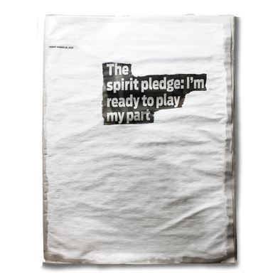 """""""The spirit pledge: I'm ready to play my part"""". Friday, 20th March 2020"""
