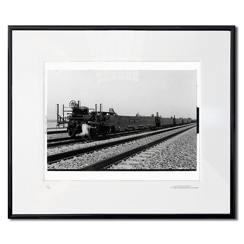 Man and his load, Framed 35mm B&W hand print