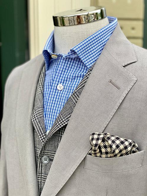 CR397 Medium Grey Silk and Linen Stuart Sportcoat