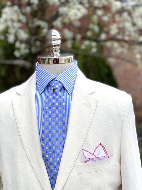 CR 382 Harrods Off-White Silk & Linen Jacket