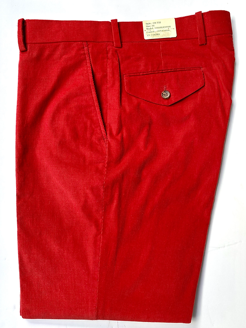 Crittenden Fine Pinwale Cord Trouser in Red