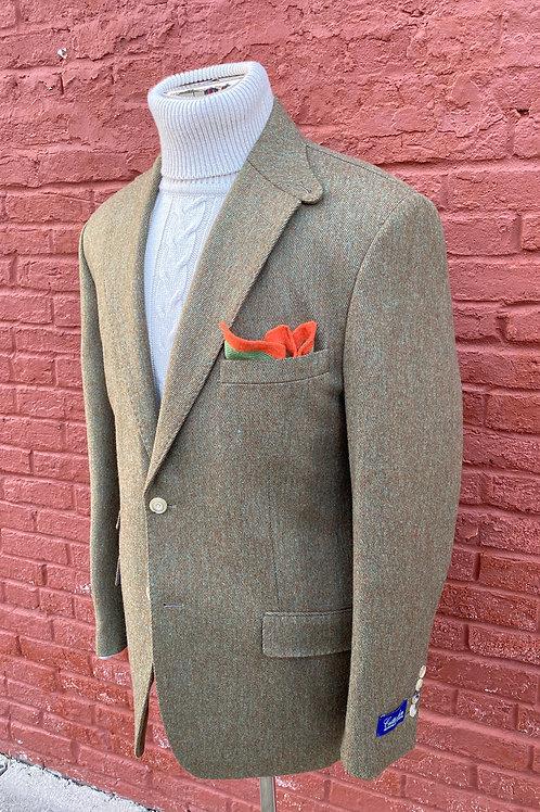CR228  Olive Twill Harrods Flap Pocket Jacket