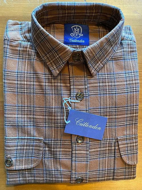 Crittenden Cotton Flannel Shirt, Brown/Black Tartan