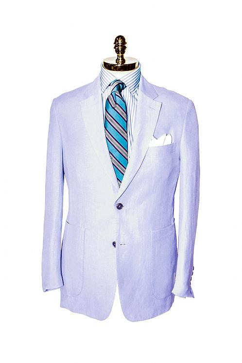 CR 391 Harrods Soft Blue Silk & Linen Jacket