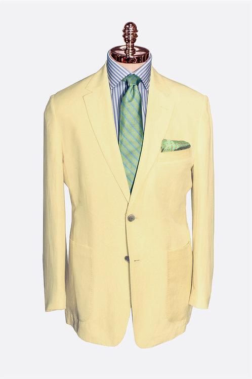 CR 383 Harrods Jacket in Soft Yellow Silk & Linen