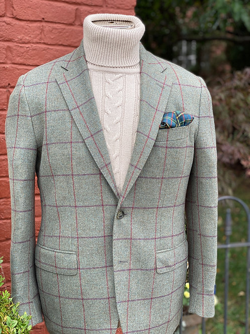 CR 650 Stuart Sportcoat in Lambswool Windowpane