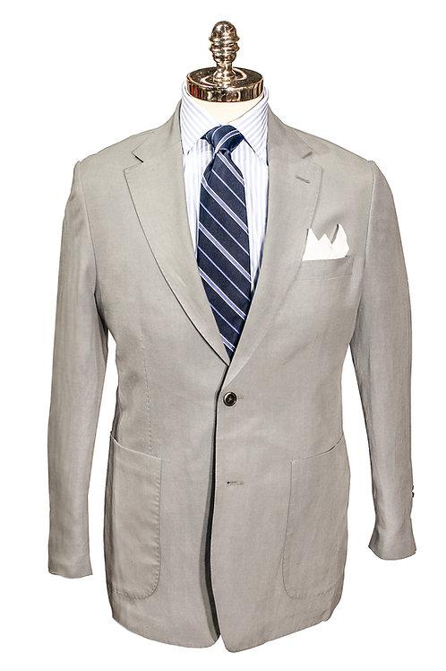 CR 395 Harrods Soft Grey Silk & Linen Jacket