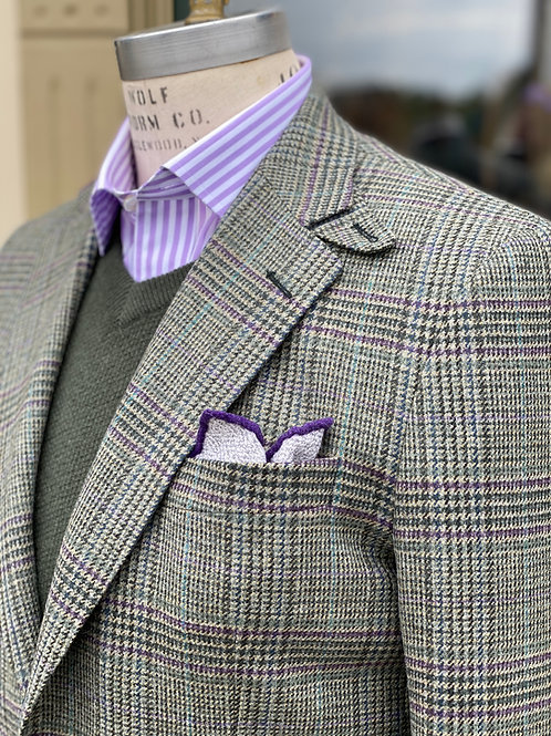 CR 642 Hacking Jacket in Blue/Green/Mauve GlenPlaid