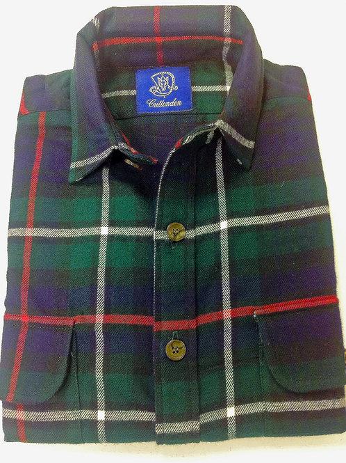 CR 60 Fall Flannel Shirt in Navy Tartan