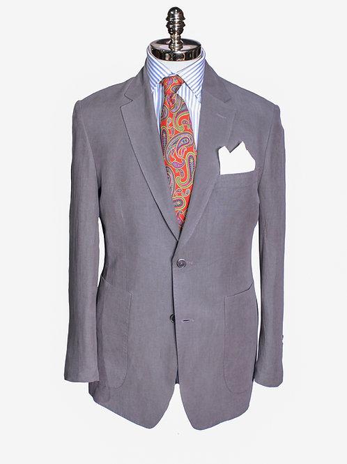 CR 397 Harrods Steel Grey Silk & Linen Jacket