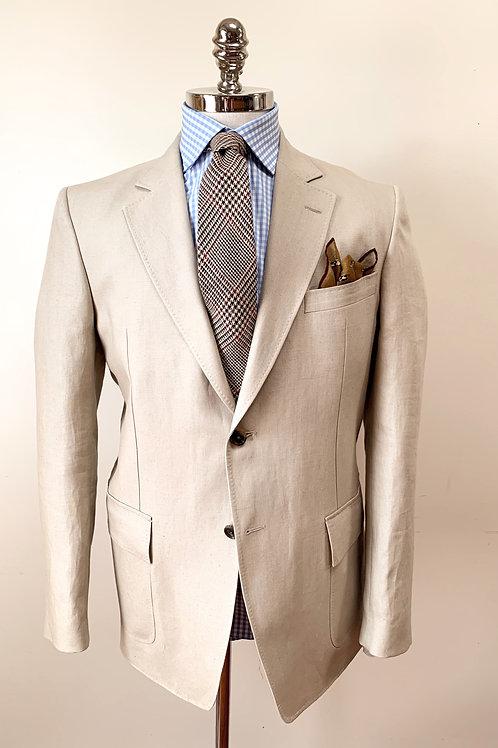 Tan Linen Flap Pocket Sportcoat by Purdey Of England
