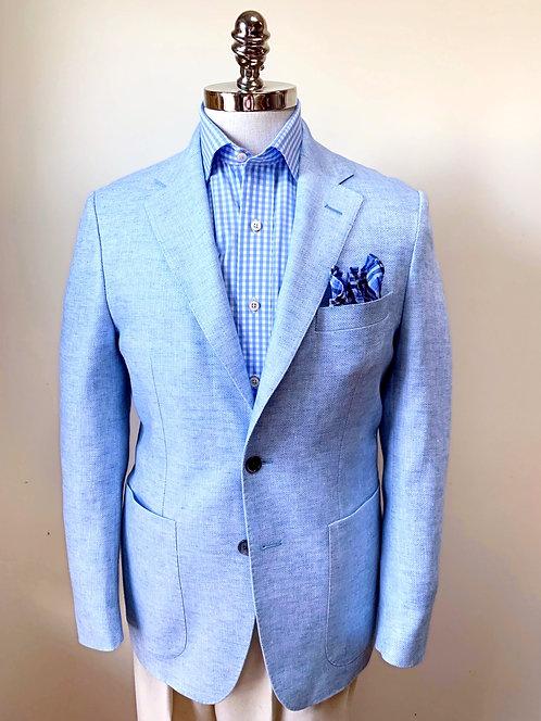 CR 456 Stuart Linen Sportcoat in Sky Blue