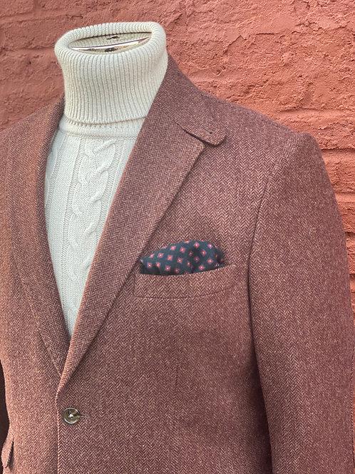 CR988  Harrods Flap Pocket Jacket in  Brick Herringbone