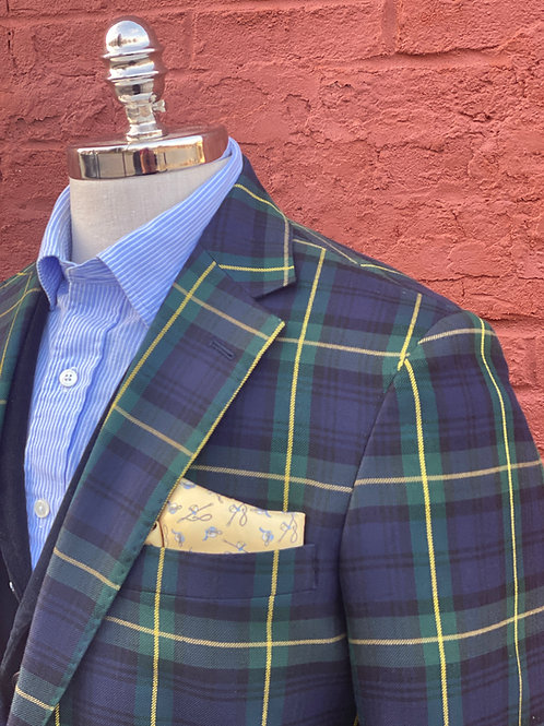 CR46A Gordon Tartan Harrods Flap Pocket Sportcoat