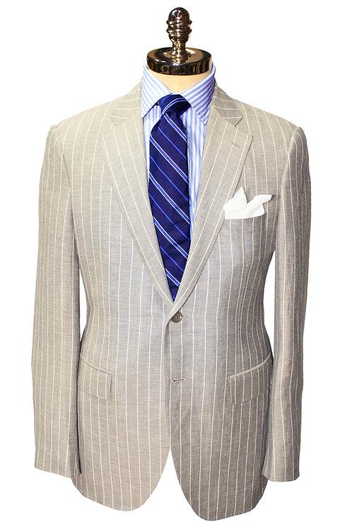 HT 2  Chalk Stripe Suit in Soft Grey or Navy