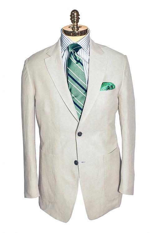CR 384 Harrods Jacket in Tan Silk & Linen