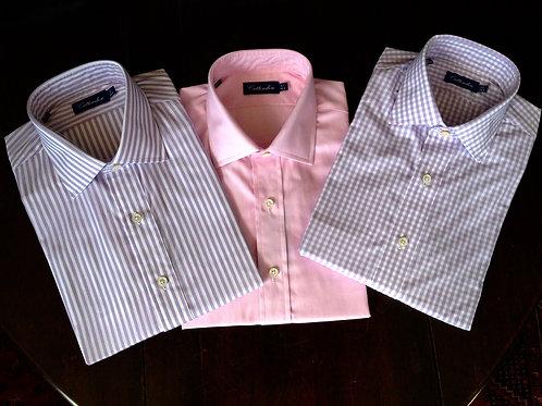 Crittenden Super 100s Dress Shirt, Light Purple and White Stripe or Check