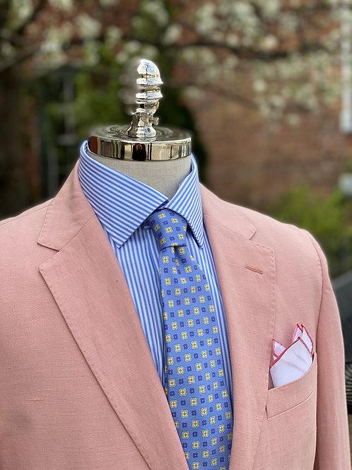 CR 389 Harrods Pink Silk & Linen Jacket
