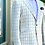 Thumbnail: CR 22A Linen Hacking Jacket in Cream Tattersall
